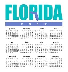 2017 Florida calendar vector image