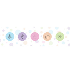 5 background icons vector