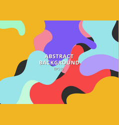 abstract colorful free form shape background vector image