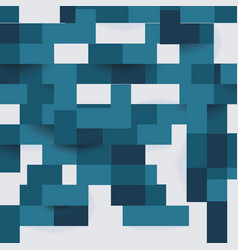 abstract geometric shape from flat blue elements vector image
