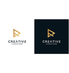 Abstract letter r logo design template vector