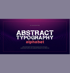 abstract modern alphabet fontsand numbers vector image