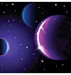 abstract space landscape vector image