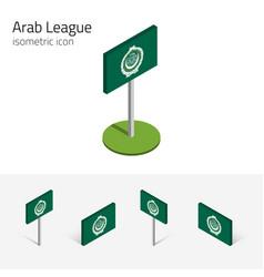 Arab league flag league arab states 3d vector