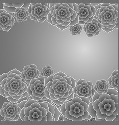 Beautiful black and white rose flower background vector