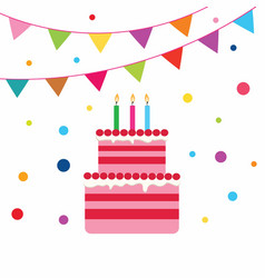 birrhday cake celebration vector image
