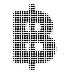 Black dot baht icon vector