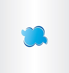 Blue cloud icon logo vector