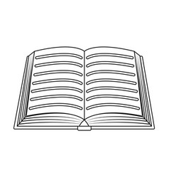 Book icon in outline style isolated on white vector
