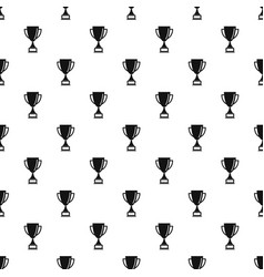 bowling cup pattern seamless vector image