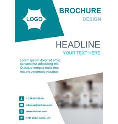 brochure template flyer background design vector image
