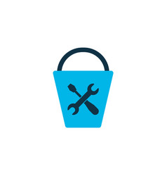 bucket tools icon colored symbol premium quality vector image