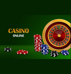Casino online concept background realistic style vector