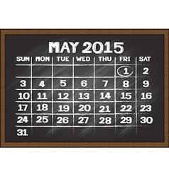 Chalkboard schedule document template vector