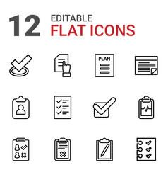 checklist icons vector image