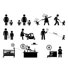 Child safety and monitor equipment artwork vector