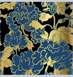 chrysanthemum flower japanese chinese seamless vector image