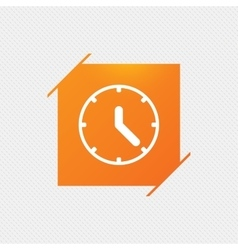 Clock sign icon Mechanical clock symbol vector image