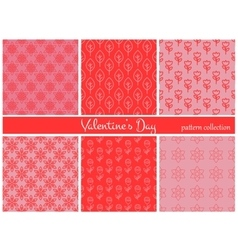 Collection of six floral patterns vector image