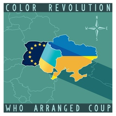 Color revolution in Ukraine vector