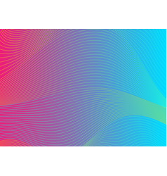 colorful curved lines wavy pattern design vector image