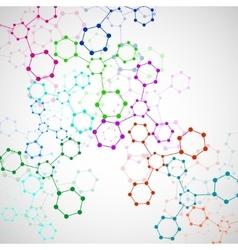 Colorful molecule DNA vector image