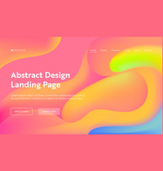 coral abstract wave landing page background design vector image