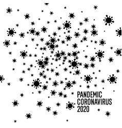 Coronavirus pandemic 2020 black-and-white poster vector