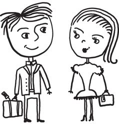 couple sketch vector image