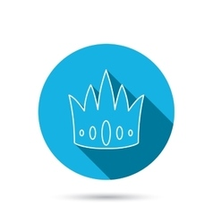 Crown icon Royal king hat sign vector image