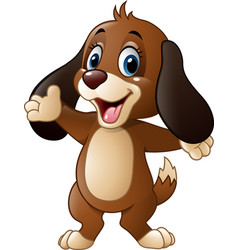 cute dog presenting vector image