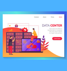 data center information database storage network vector image