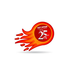 Discount up to 25 off hot offer special price vector