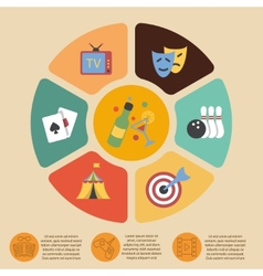 Entertainments infographics set vector image