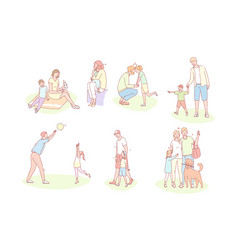 family childhood fathersday mothersday love vector image