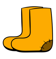 felt boots icon cartoon vector image
