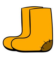 Felt boots icon cartoon vector