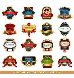 frames and ornamental labels vector image