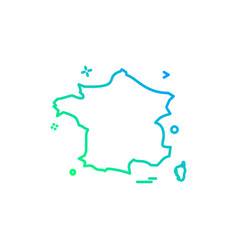 france icon design vector image
