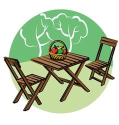 Garden furniture vector