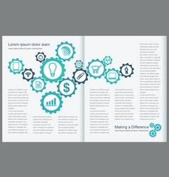 Gear Page Layout vector image