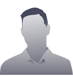 Generic person gray photo placeholder man vector