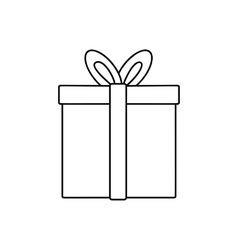 Gift line icon vector