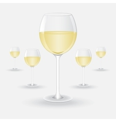 glasses of white wine vector image