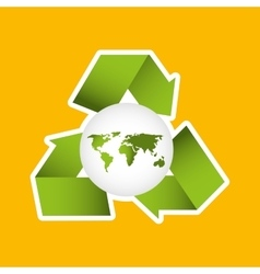 Globe earth environment eco icon design vector