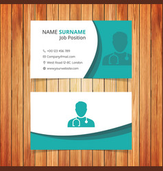 green and white business card vector image