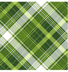 Green tartan pixel check plaid seamless pattern vector