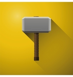 Hammer of thor the vikings comics of god vector