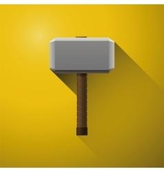 Hammer thor vikings comics hammer god vector