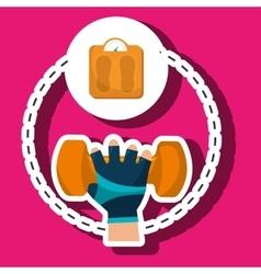 hand glove sport gym vector image